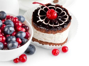 Sweet Cake and Berries